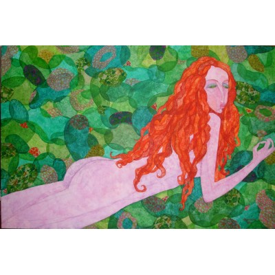 Nude ginger woman