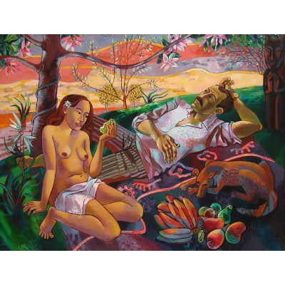 Evening at Tahiti. Hommage to Paul Gauguin